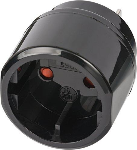 Brennenstuhl Reisestecker / Reiseadapter (Reise-Steckdosenadapter für: USA, Japan Steckdose und Euro/Konturen-Stecker) schwarz