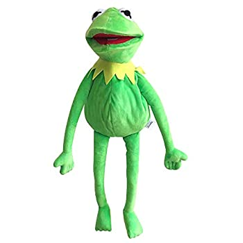 Kermit Frog Puppet The Muppets Show Soft Hand Frog Stuffed Plush Toy with 50 Pcs Kermit Frog Stickers Gift Ideas for Boys and Girls- 24 Inches
