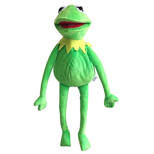 Kermit Frog Puppet, The Muppets Show, Soft Hand Frog Stuffed Plush Toy with 50 Pcs Kermit Frog Stickers, Gift Ideas for Boys and Girls- 24 Inches