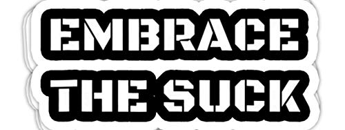 macknessfr Embrace The Suck Perfect for Your Next Challenge - 4x3 Vinyl Stickers, Laptop Decal, Water Bottle Sticker (Set of 3)