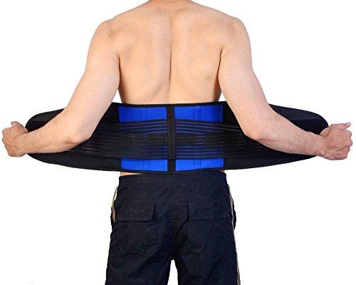 Deluxe Double-Pull Neoprene Lumbar Support Belt - Lower Back Support Brace - Exercise Belt (X-Large)