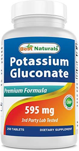 Best Naturals Potassium Gluconate Supplement 595 Mg Tablet  250Count