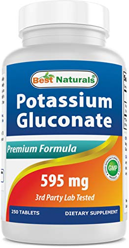 Best Naturals Potassium Gluconate 595 mg 250 Tablets