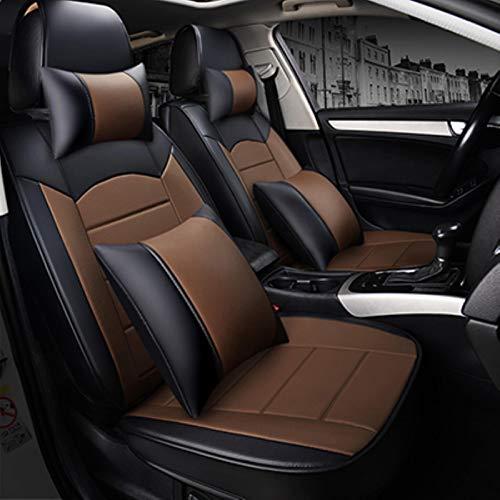 XIARI Coprisedile Universale per Toyota Tutti I Modelli Rav4 Wish Land Cruiser Vitz Mark Auris Prius Camry Corolla Covers-Black Coffee Pillow