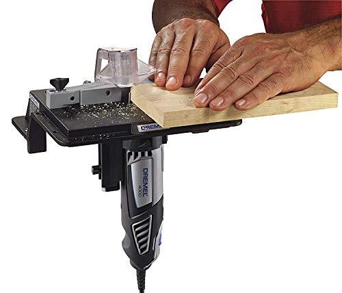 Dremel 231 - Mesa de moldeador y enrutador portátil para carpintería perfecta para lijar, moldear y recortar bordes
