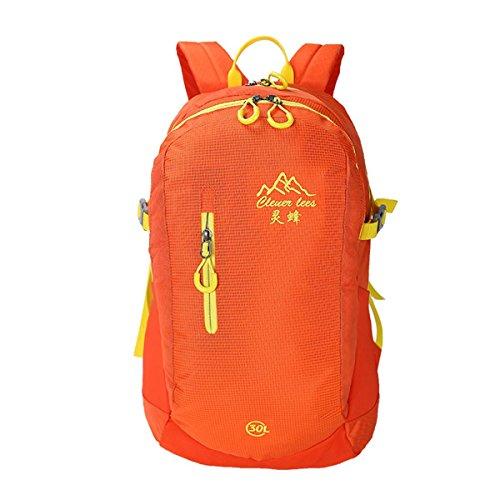 30L alpinisme sac à dos plein de couleur Casual Shoulder Bag étudiants sac grande capacité légère équitation voyage d'alpinisme Pack Racksacks pour les hommes et les femmes 5 couleurs , orange