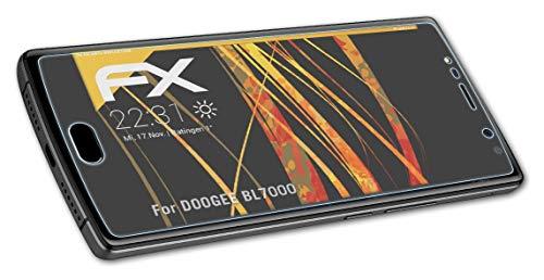 atFolix Panzerfolie kompatibel mit DOOGEE BL7000 Schutzfolie, entspiegelnde & stoßdämpfende FX Folie (3X)