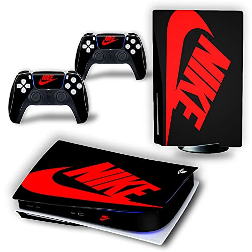 PS5 Console and Controller Skin Vinyl Sticker Decal Cover for PlayStation 5 Console and Controllers, Durable, Bubble-Free, Scratch and Dust Resistant, Disk Edition - Black Shoebox