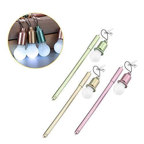 Ximimark - Juego de 3 bolígrafos de tinta neutra creativos para bolígrafo y bolígrafo de gel, suministros oficiales para la escuela, verde, dorado y rosa