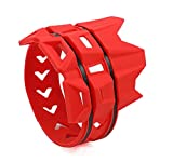 PRO CAKEN Universal MX Dirt Pit Bike Exhaust Muffler Silencer Protector Guard for CRF Motocross Motorcycle Red