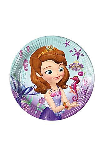 Generique - 8 Assiettes en Carton Princesse Sofia 23 cm