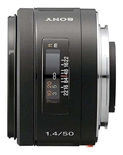 Sony SAL50F14 - Objetivo para Sony (Distancia Focal Fija 50mm, Apertura f/1.4-22, diámetro: 55mm) Negro