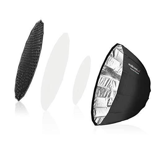 Walimex pro Studio Line Deep Rota Softbox QA120 für Aurora & Bowens – Octabox Lichtformer, 120cm Ø, 71cm tief, faltbar, mit Grid, Innen- und Außendiffusor, Speedring, für Aufsteckblitz Studioblitz