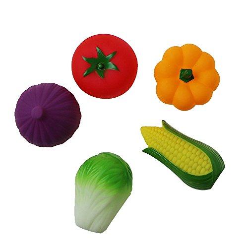 Cikoo 3pcs Caoutchouc légumes Eau Jouet bébé Salle de Bain Piscine Baignoire Jouet Accessoire pour Enfant