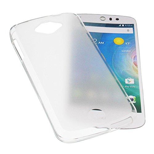 foto-kontor Tasche für Acer Liquid Z530 Liquid M530 Gummi TPU Schutz Handytasche milchig transparent
