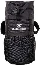 Moosetreks Bike Handlebar Stem Bag   Food Snack Storage, Water Bottle Holder   Bikepacking, Bicycle Touring, Commuting, Insulated Pouch