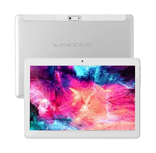 Tablet KISEDAR Android 10.0 10.1  PC4GB RAM 64GB Tablet Tablet sbloccato Quad Core, adatto per telefono cellulare 3G, slot per scheda SIM doppia fotocamera, Bluetooth, GPS, WiFi ...