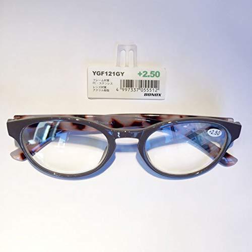 YGF121 BONOX ダルトン おしゃれ 老眼鏡 シニアグラ Reading Glasses (GY(GRAY), 1.5)