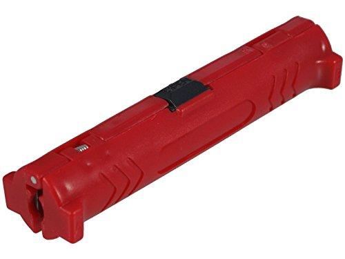 Abisolierer für Koaxialkabel (rot) - für einfaches und schnelles Abisolieren aller gängigen Koaxial-Kabel