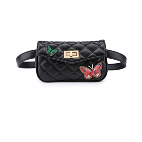 TTD Mode Kleine Süße Taille Gürteltasche Tasche Umhängetasche Handtasche Schmetterling Handytasche für Frauen & Mädchen-Typ2