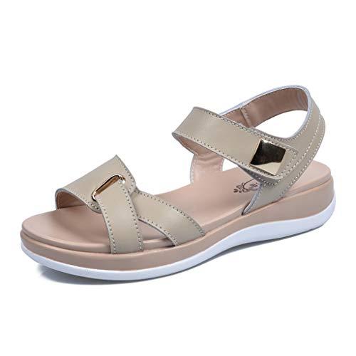 Grote sandalen voor dames, zomer, bovenkleding, breed, vetvoeten, wijde vetten, schoenen, zachte bodem, comfort, strand, dagelijks, winkelen, zee, platte bodem zomersandalen en