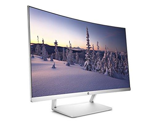 Preisvergleich Produktbild HP TN Monitor mit LED-Hintergrundbeleuchtung Schwarz weiß 27 Inch 1920 x 1080 Pixels Curved Monitor