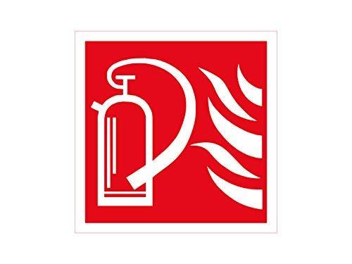 NetSpares 119875721 1 x Aufkleber Feuerlöscher Feuer Warnung Gefahr Sticker Alarm Löschen