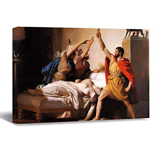 The Oath of Junius Brutus Jean Honore Fragonard Canvas Picture Painting Artwork Wall Art Poto Framed Canvas Prints for Bedroom Living Room Home Decoration, Ready to Hanging 8