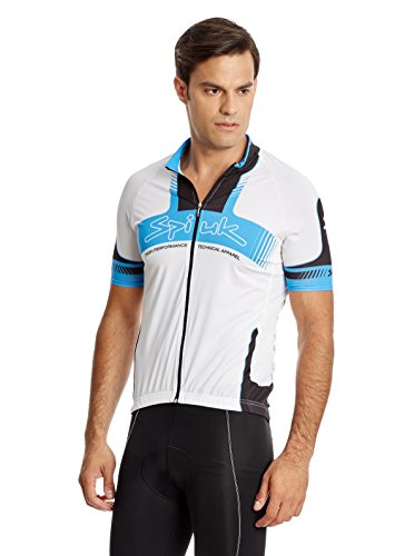 Spiuk Maillot Ciclismo Performance Blanco/Azul/Negro L