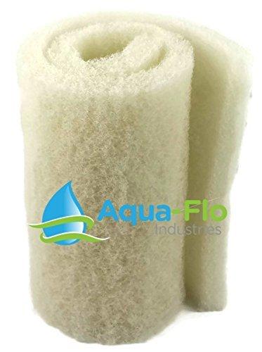 Aqua Flo 20'x 56'x 2' White Coarse Bulk Filter Media Roll for Koi Pond, Waterfall Filters, Skimmers