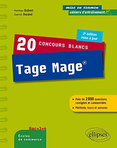 20 Concours Blancs Tage Mage Méthode Trucs et Astuces Bac +3+4