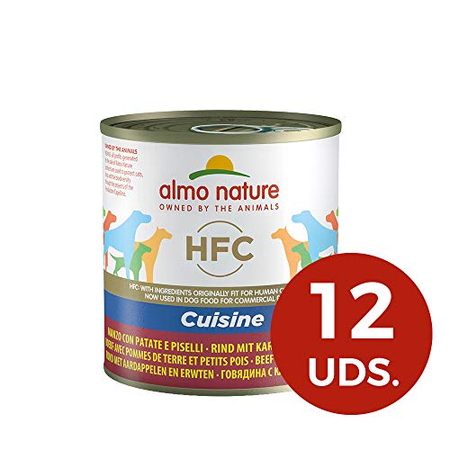almo nature HFC Cuisine - Manzo con Patate e Piselli - Umido Cane 100% Naturale - 12x290 g lattina