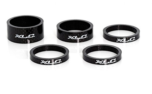 XLC Lenkkopferweiterung A-Head Spacer-Set As-c01 3x5/1x10/1x15 Mm 1 1/8 Zoll Ahead, Unisex Adulto, Gris Oscuro, 10 x 10 x 8 cm