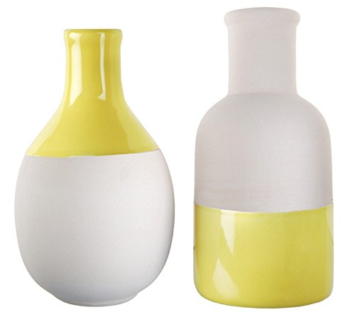 2jarrones Scandinavos amarillo y blanco surtidos