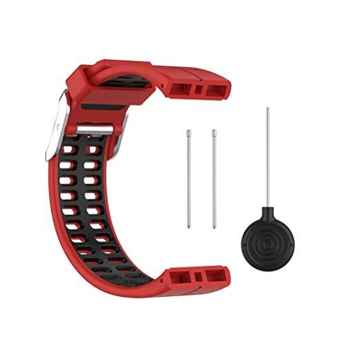 spier Correa de silicona para reloj POLAR v800, correas de repuesto suaves y cómodas para reloj inteligente, correas de liberación rápida para POLAR v800
