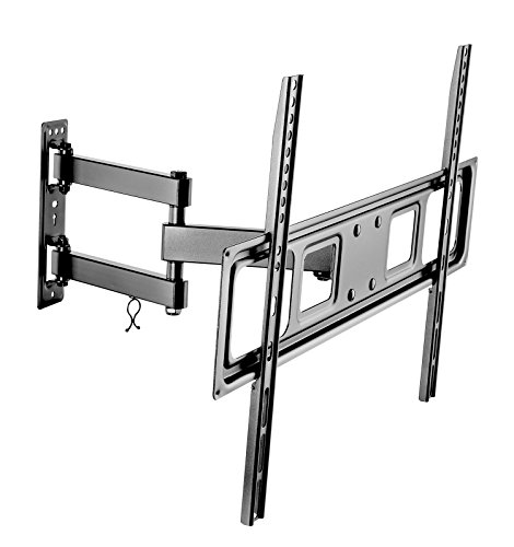 """Tuff Mount- Full Motion Articulating & Tilting Wall Mount Fits 32""""-72"""" LED/LCD/OLED Plasma Flat & Curved Screen TVs, 77 lbs Weight Capacity,Max VESA 600x400,Extends Up To 16.8"""" From Wall, Model# A2027"""