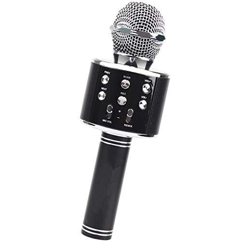 LDDZB WS-858 Portable Wireless Karaoke Microphone Handheld Cellphone Karaoke Player Built-in HiFi Speaker Selfie 3-in-1 Rechargeable Li-Battery Karaoke KTV MIC Machine HD Sound Quality (Color : Gold)