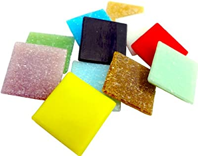 Mosaic Mercantile Assorted Colors Glass Tile, 3-Pound