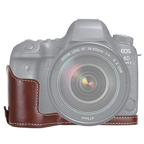 YANTAIAN Accessori della Fotocamera Macchina Fotografica in Pelle PU a 1/4 di Pollice in Pelle PU Base Mezza per Canon EOS 6D / 6D Mark II (Colore : Coffee)