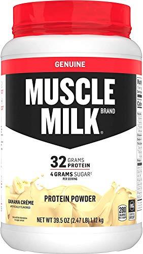 Muscle Milk Genuine Protein Powder, Banana Crème, 32g Protein, 2.47 Pound, 16 Servings