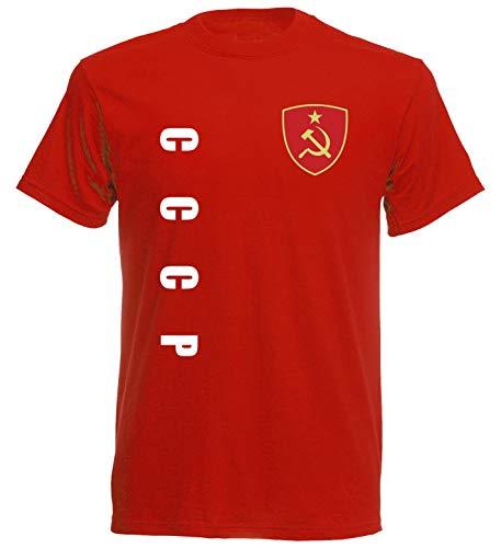 aprom CCCP Sowjetunion UDSSR Sp/A rot - T-Shirt Fußball Trikot (M)