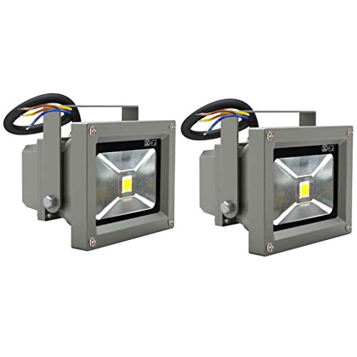 vidaXL 2X Projecteur Extérieur LED 10W Jardin Terrasse Patio Lampe Éclairage