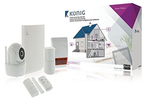 König SAS-CLALARM10 Smart-Home-Security-Set, Weiß