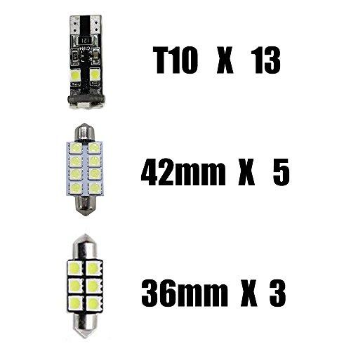 Para Bmw SERIE 3/52008–2017X3X5LED luces interiores LED Interior Coche Luces Bombillas de color blanco–Juego de 21