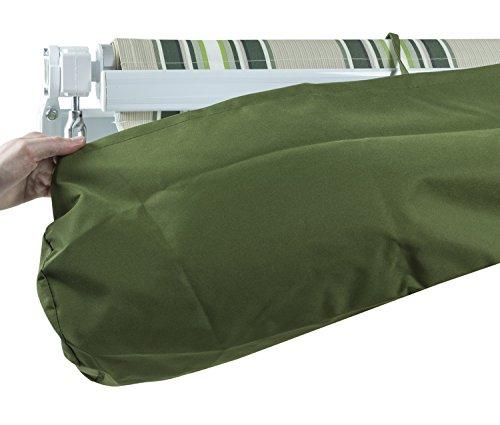 Woodside Schutzhülle für Markisen - wasserdicht - für die Lagerung im Winter - Grün - 4,0m