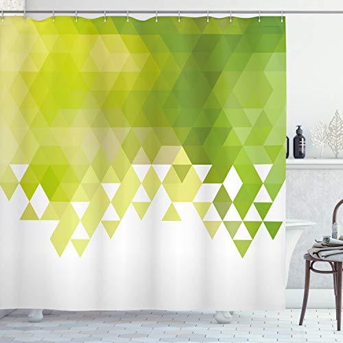 cortinas baño verde lima
