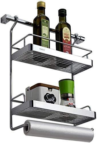 RACK Küche Badezimmerregal, Home Küchenregal Wand-Gewürzregal Kupfer Doppelschicht-Lagerregal