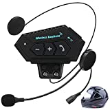 Motorcycle Helmet Bluetooth Headset,Hands-Free&Wireless Earphone, Intercom Communication System Outdoor Sports Headset, BT 4.1 Soft Cable, Automatic Answering High Sound Quality Headphones
