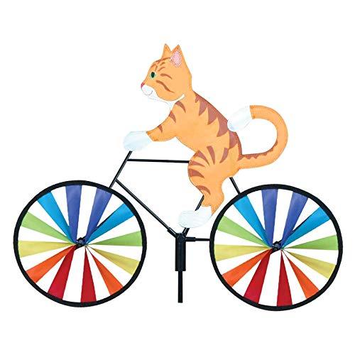 Reooly Nette 3D Windmühle Garten Windmühle Katze Fahrrad Windrad Kinder Gartenstecker Gartendeko Windspiel Garten Wetterfest Kinder Gartenstecker Gartendeko