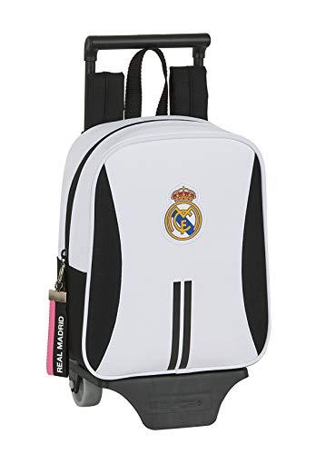 Safta 612054280 Mochila guardería ruedas, carro, trolley Real Madrid CF